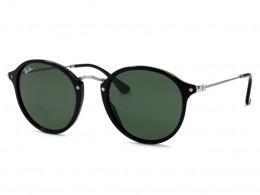 Óculos de Sol Ray-Ban Redondo Armação Acetato Preta Lente Verde Comum Sem  Plaquetas 0rb244790152 9bccb7cd68