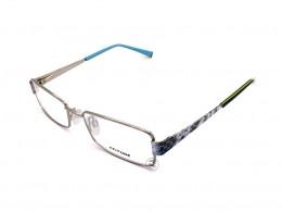 e4f4c42f9325f Óculos de Grau Atitude Retangular Metal Prata Aro Fechado Com Plaquetas  at1454 03a