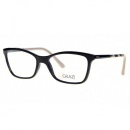 17ffc62e6d94c Óculos de Grau Grazi Massafera Quadrado Acetato Preta Aro Fechado Sem  Plaquetas 0gz3020 e082 53