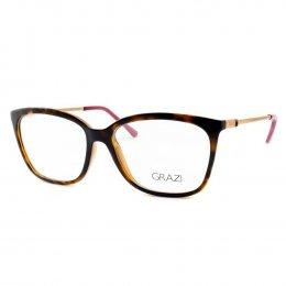 736b52a82 Óculos de Grau Grazi Massafera Quadrado Acetato Tartaruga Aro Fechado Sem  Plaquetas 0gz3016 d82753