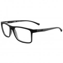6d5be498a6474 Óculos de Grau Arnette Retangular Acetato Preta Aro Fechado Sem Plaquetas  0an7083l 2398 55