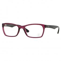 cb33d783210b6 Óculos de Grau Ray-Ban Retangular Acetato Roxo Aro Fechado Sem Plaquetas  0rx7033l 544552