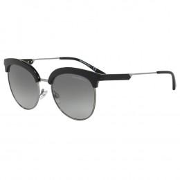 Óculos de Sol Emporio Armani Clubmaster Armação Metal Preto Lente Preta  Comum Com Plaquetas 0ea4102 50011154 29bd5b72cc