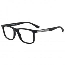 Óculos de Grau Emporio Armani Wayfarer Acetato Preta Aro Fechado Sem  Plaquetas 0ea3112 504256 5d91f932f9