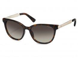 Óculos de Sol Polaroid Quadrado Armação Acetato Tartaruga Lente Marrom  Degradê Sem Plaquetas pld 5015  4758ced532
